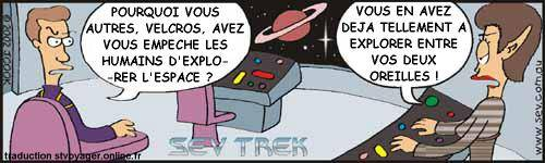 Sev Trek Comic Strip. Copyright 1997-2017 by John Cook. Traduction et utilisation avec accord de l'auteur. Reproduction interdite sans son accord.
